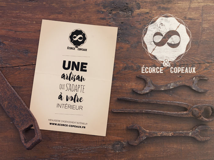 Flyer promotionnel d'Écorce & Copeaux